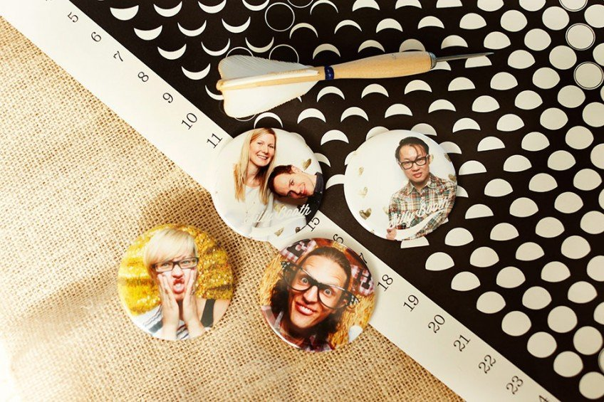 Photo Booth Button Magnets